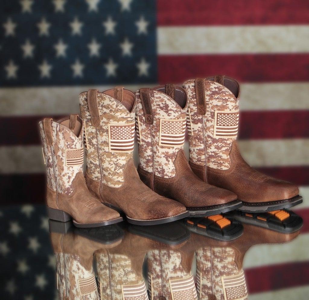 62ede843fcb Ariat Mens Camo Sport Patriot Wide Square Toe Cowboy Boots Mocha