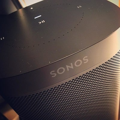 More music. Is more fun. #sonosone #sonos #homeoffice #spotify