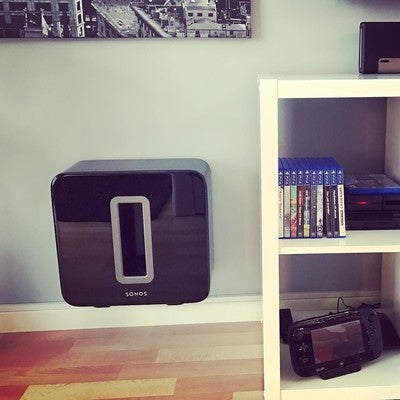Loving my new Alphason Sonos Sub wall bracket #Sonos #sonossub #floaty