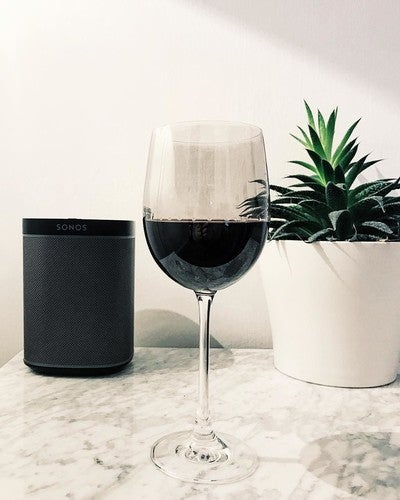 Saturday night in #home #interiors #design #sonos #play1 #succulent #marble