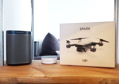 Ups...I did it again  Love my Play 1's  1 of 4.  #sonos #play1 #industrial #wood #oak #drone #dji #winter #sun #fun #love #music #enjoylife #lifestooshort