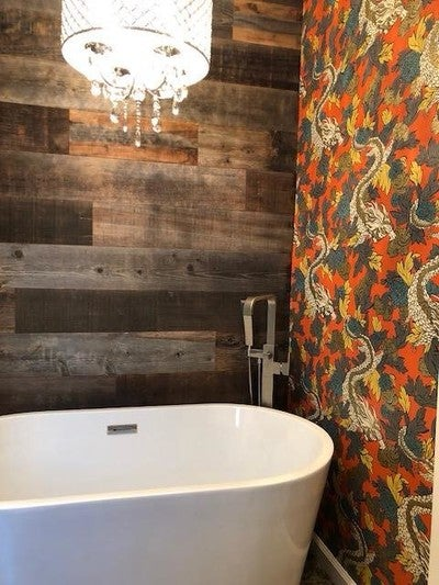 Image By Stikwood Containing Bathroom Room Tile Wall Interior Design