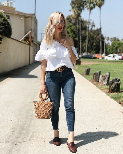 d8df6268d574 image by love2_bchic containing jeans, clothing, denim, shoulder, fashion  model