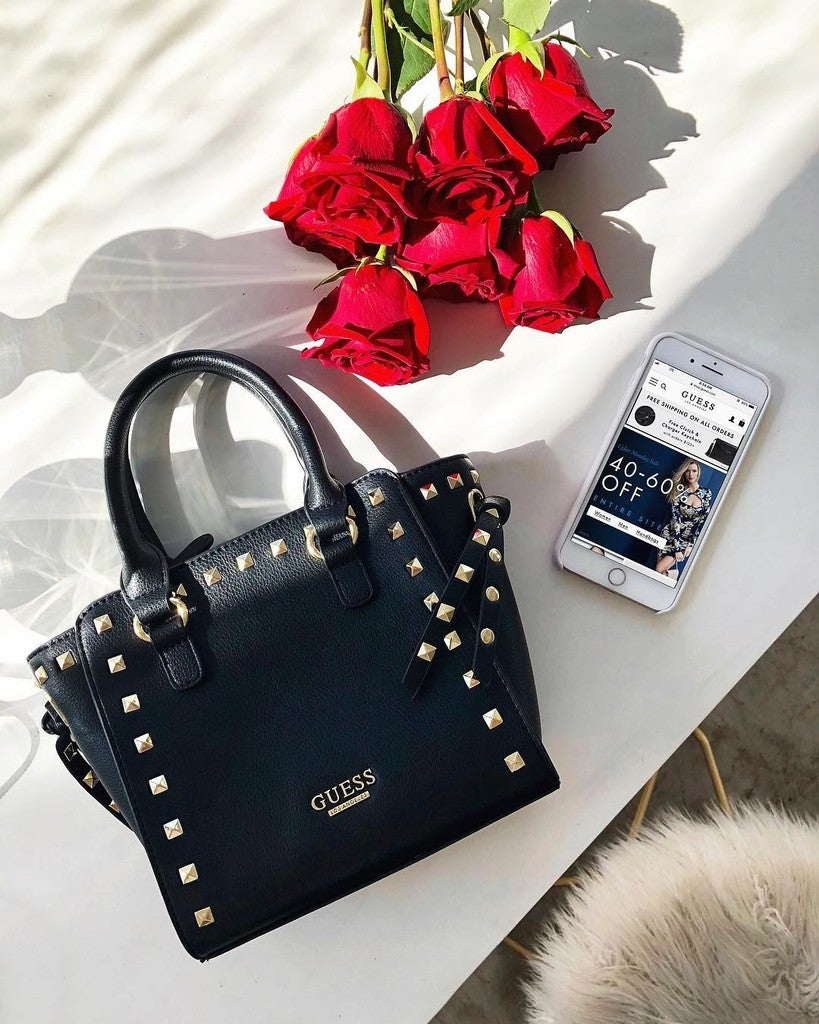 Guess Official Global Lifestyle Brand For Women Men Kids Magnolia Mini Dress Wanita Merah Image By Containing Handbag Bag Fashion Accessory Product