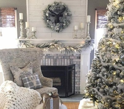 Image By Stikwood Containing Living Room Home Interior Design Christmas Decoration
