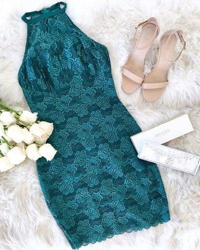 083e40e10ab1b image by guess containing turquoise, aqua, dress, turquoise, fur
