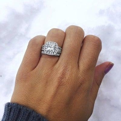 6318d8855fec4 Double Halo Multi-Size Round Diamond Engagement Ring